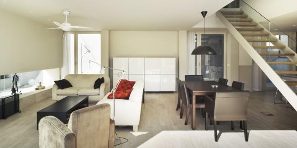 Marcaser - sala de estar en vivienda la alberca