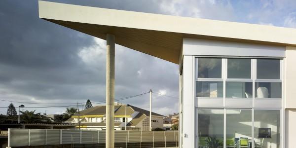 Marcaser - Diseño arquitectónico vista lateral de chalet