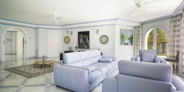 Marcaser - sala de estar color azul