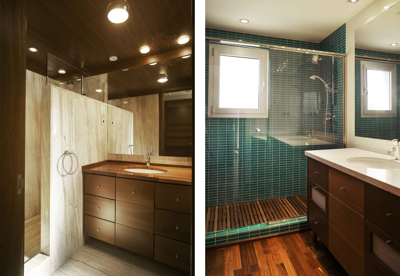 Marcaser - ducha y lavamanos de chalet