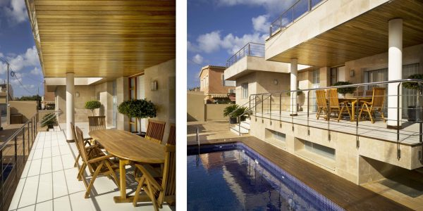 Marcaser - chalet de dos pisos con piscina