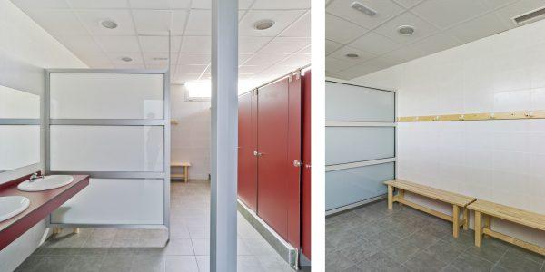 Marcaser - Baños interior de escuela de danza
