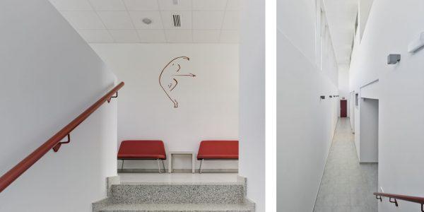 Marcaser - Pasillos al interior de escuela de danza