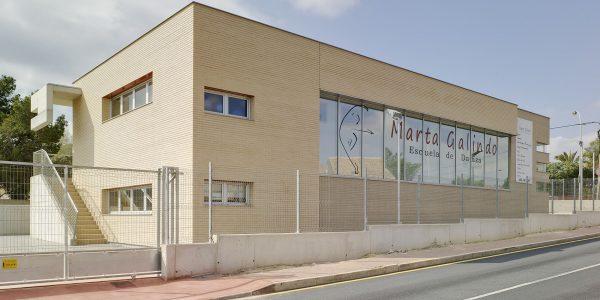 Marcaser - Fachada de edificio escuela de danza