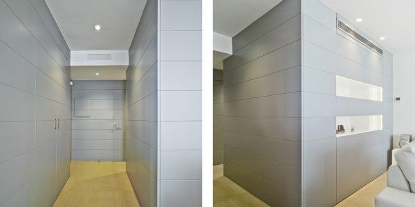 Marcaser - pasillo en vivienda lamanga