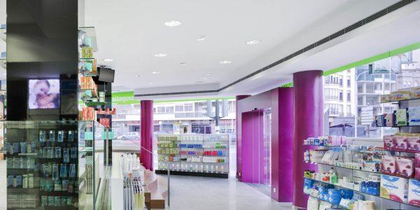 Marcaser - pasillo de farmacia plaza